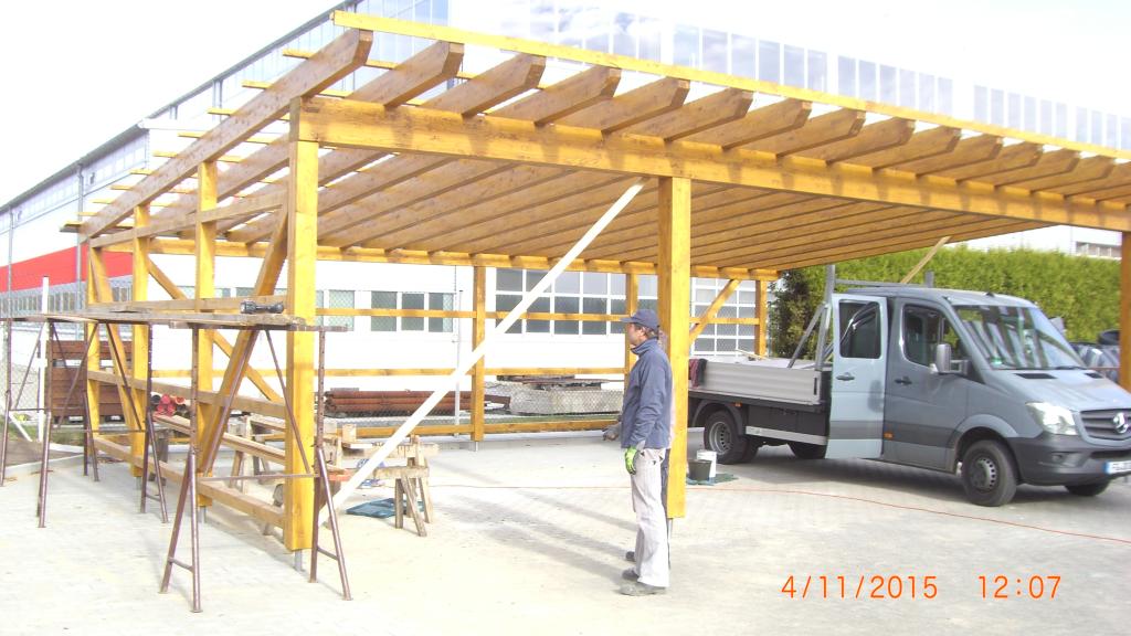 carport mit dachüberstand